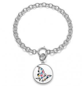 Chunky Chain Butterfly Bracelet