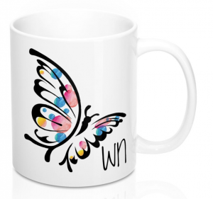 White Butterfly Mug Sm