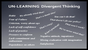 Divergent Thinking Unlearned
